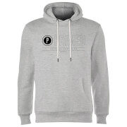 Primed Logo Graphic Print Hoodie - Grey
