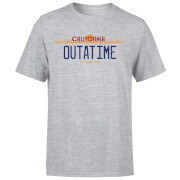 Back To The Future Outatime Plate T-Shirt - Grey