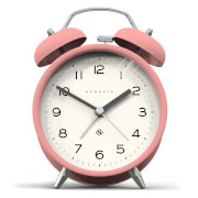 Newgate Charlie Bell Echo Silent Alarm Clock - Pink