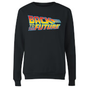 Back to the Future Classic Logo Dames Trui - Zwart