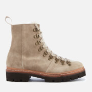 Grenson Women's Nanette Suede Hiking Lace Up Boots - Maple