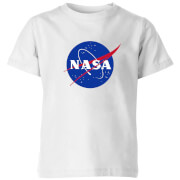 NASA Logo Insignia Kids' T-Shirt - White