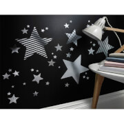 Decofun Silver Star Wall Stickers