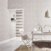 Superfresco Easy Stone/Cream Innocence Floral Wallpaper