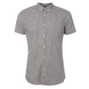 Broken Standard Men's Montgomery Checked Shirt - Grey