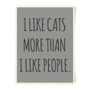 I Like Cats More Than People Art Print