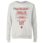 Star Wars Dark Side Echo Weiß Damen Pullover - Weiß