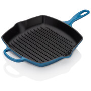 Le Creuset Signature Cast Iron Square Grillit - 26cm - Marseille Blue