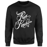 Rum Knuckles Typography Sweatshirt - Black