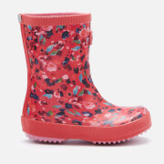 Joules Toddlers' Printed Wellies - Deep Pink Inky Ditsy