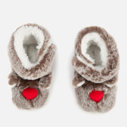 Joules Babies' Petapata Character Slippers - Brown