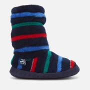 Joules Kids' Padabout Fleece Lined Slipper Socks - Multi Stripe