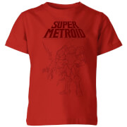 Nintendo Super Metroid Ridley And Samus Kinder T-Shirt - Rot