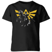 Nintendo The Legend Of ZeldaHyrule Link Kinder T-Shirt - Schwarz