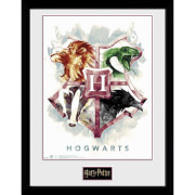 Harry Potter Hogwarts Water Colour 12 x 16 Inches Framed Photograph