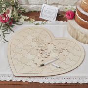 Ginger Ray Wooden Jigsaw Guestbook Alternative - Boho