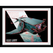 DC Comics Justice League Flying Fox 12 x 16 Inches Framed Photograph