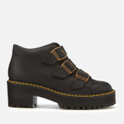 Dr. Martens Women's Coppola Leather Buckle Heeled Boots - Black