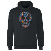 Coco Skull Pattern Hoodie - Schwarz