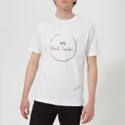 PS Paul Smith Men's Short Sleeve Regular Fit Circle T-Shirt - White