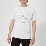 PS Paul Smith Men's Short Sleeve Regular Fit Circle T-Shirt - White