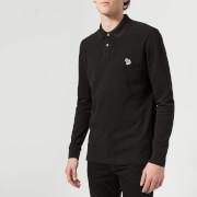 PS Paul Smith Men's Regular Fit Long Sleeve Polo Shirt - Black