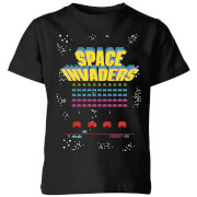Space Invaders Game Screen Kids' T-Shirt - Black