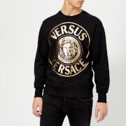 Versus Versace Men's Round Logo Printed Sweatshirt - Black/Gold