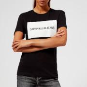 Calvin Klein Jeans Women's Institutional Box Logo T-Shirt - CK Black