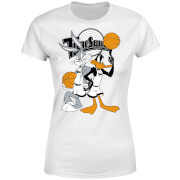 Space Jam Bugs And Daffy Time Squad Women's T-Shirt - White