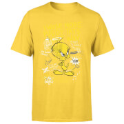 Looney Tunes Tweety Pie More Puddy Tats Men's T-Shirt - Yellow