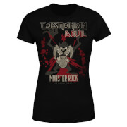 Looney Tunes Tasmanian Devil Monster Rock Women's T-Shirt - Black