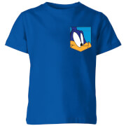 Looney Tunes Roadrunner Gesicht Faux Pocket Kinder T-Shirt - Blau Royal