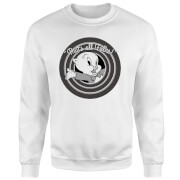 Looney Tunes That's All Folks Porky Pig Sweatshirt - White