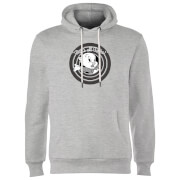 Looney Tunes That's All Folks Porky Pig Hoodie - Grey