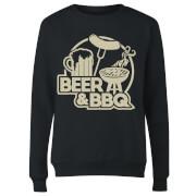 Beer & BBQ Women's Sweatshirt - Black