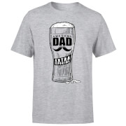 Awesome Dad Beer Glass Men's T-Shirt - Grey