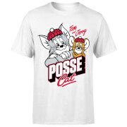 Tom & Jerry Posse Cat Men's T-Shirt - White