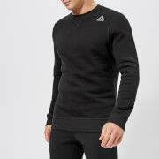 Reebok Men's Crew Neck Fleece Sweatshirt - Black