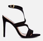 Steve Madden Women's Sidney Nubuck Heeled Sandals - Black