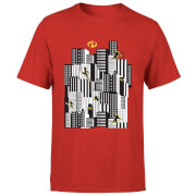 The Incredibles 2 Skyline Men's T-Shirt - Red