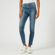 J Brand Women's Alana High Rise Skinny Cropped Jeans with Raw Hem - Delphi