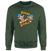 Sweat Homme La Famille Pierrafeu - Squad Goals - Vert