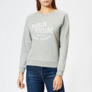 Maison Kitsuné Women's Par Perm Palais Royal Sweatshirt - Grey Melange