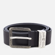 Diesel Men's Guarantee Leather Belt - Black