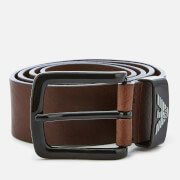 Emporio Armani Men's Vitello Mosso Leather Belt - T.Moro