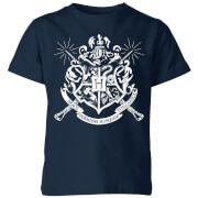 Harry Potter Hogwarts House Crest Kids' T-Shirt - Navy