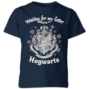 Harry Potter Waiting For My Letter From Hogwarts Kids' T-Shirt - Navy