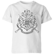 Harry Potter Hogwarts House Crest Kids' T-Shirt - White