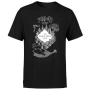 T-Shirt Homme Carte du Maraudeur - Harry Potter - Noir